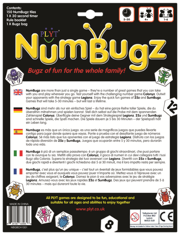 NumBugz English Deutsch Espanol Italiano Francais