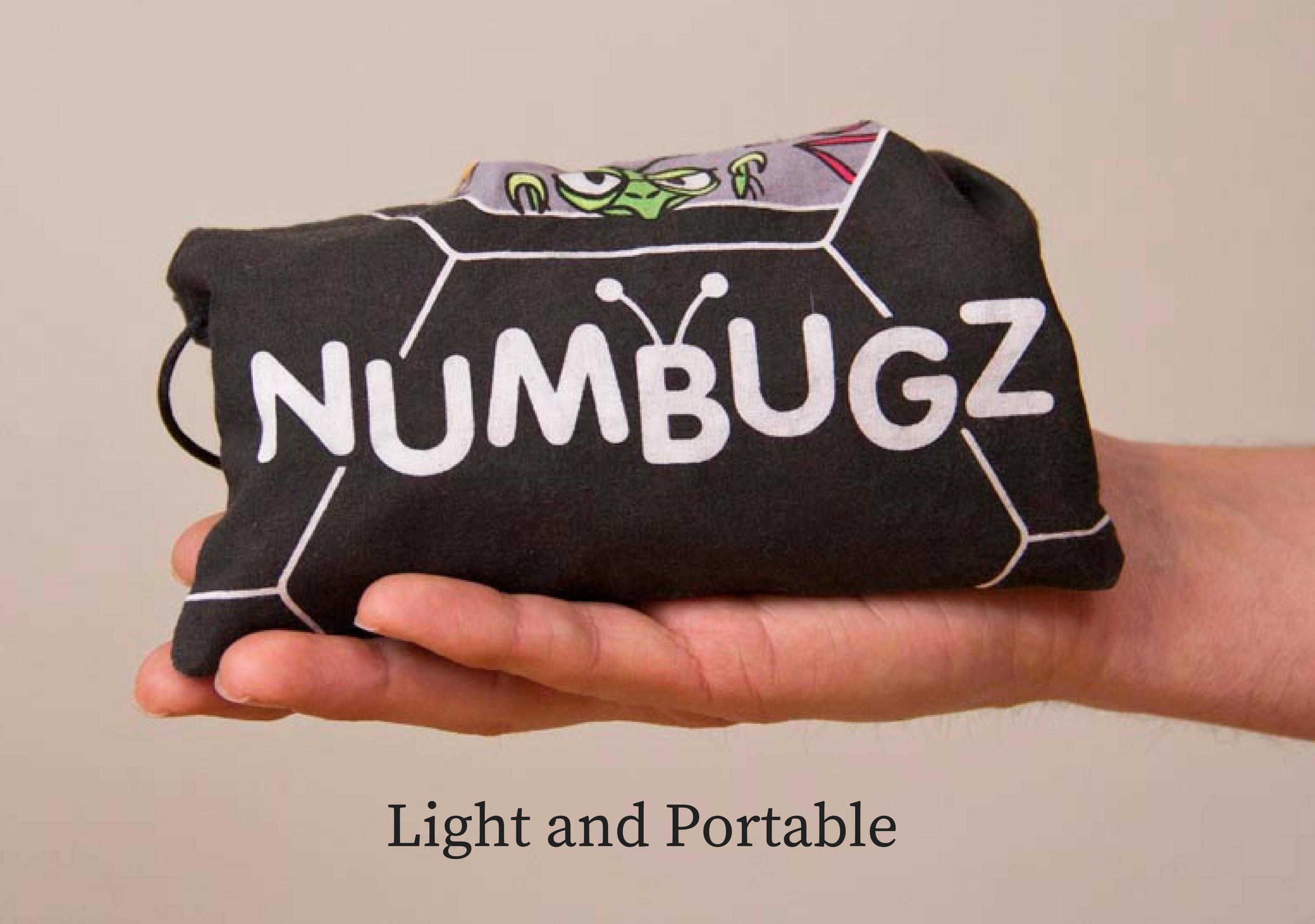 NumBugz light portable travel game